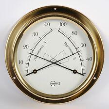 Schiffscomfortmeter analog Barigo Regatta Messing