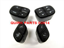 GM Chevrolet GMC Cadillac 4 Piece Steering Wheel Radio Control Switch Set OEM