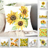 45cm Square Sunflower Back Cushion Cover Throw Pillow Case Home Sofa Decor