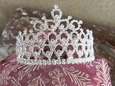 Breathtaking Queen Prom Pageant Bride Crystal Rhinestone Tiara Crown free shipp