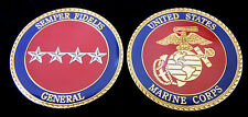 4 FOUR STAR US MARINES GENERAL RANK CHALLENGE COIN O10 PIN UP PROMOTION GIFT WOW