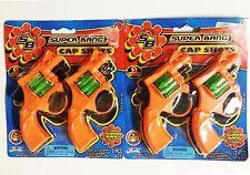 Cap Gun Super Bang Shot Toy Christmas Stocking Stuffer Gift *2 PACK* 4 GUNS NEW