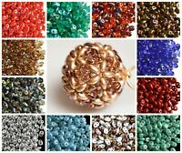 CHOOSE COLOR! 20g 2.5x5mm 2-hole SuperDuo Seed Beads Czech Pressed Glass