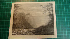 Rügen isle antique print 1892 holzstich