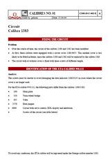 OMEGA SERVICE MOVEMENT MANUAL REPAIR  CALIBRE TECHNICAL GUIDE