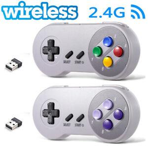 Wireless USB SNES Retro Controller Gamepad for PC MAC Raspberry Pi US SHIP