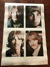 The Beatles White Album Poster *Rare* 1968•©1987 Apple Corps