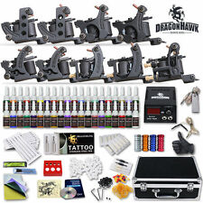 Professional Complete Tattoo Kit 9 Top Machine Gun 40 Ink 50 Needle Power Supply