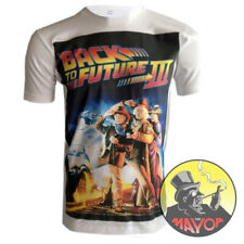 Premium Quality Retro Back To The Future 3 Mens Womens Unisex Organic T-Shirt