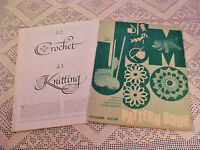 Crochet Knit Embroidery Fawcett and Tower Press Lot of 2 Vintage Booklets
