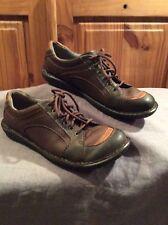 Born Style W23176 Lace-Up Comfort Walking Shoes Multi-Color Women 8.5/40 VGUC