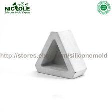 Silicone Flower Pots Mold New 3D Geometric Triangle Flower Pots Concrete Cement