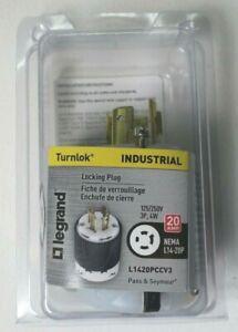 Legrand Turnlok Industrial Locking Plug NEMA L14-20P L1420PCCV3 125/250V 3P 4W