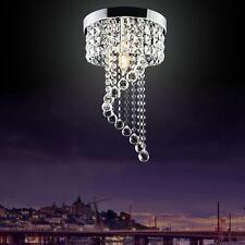 (UK EU) Modern Crystal LED Ceiling Lights Pendant Lamp Aisle Chandeliers Fixture