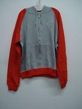NWT Men's Rocawear Classic Zip Up Hoodie Jacket Size 3X Grey w/ Orange #500K