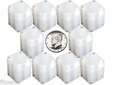 Half Dollar Square Coin Tube Storage, Numis Brand, 30.6mm, 10 pk