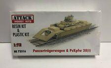 Panzertragerwagen & PzKpfw 38(t) ATTACK HOBBY KITS Resin & Plastic Kit 1:72 new!