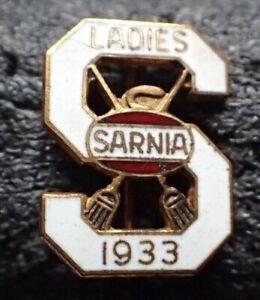 Vintage Curling Pin - 1933 Ladies Sarnia Ontario Canada Pin