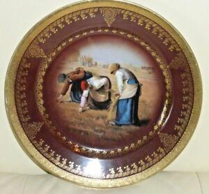 Royal Vienna Harvest Scene Porcelain Plate