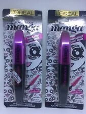Lot of 2 L'Oréal Voluminous Miss Manga Oversized Volume Mascara 376 Black Brown