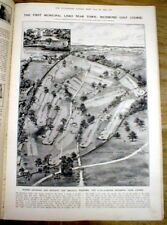 1923 illustr newspaper w 1st view RICHMOND PARK GOLF COURSE near LONDON England