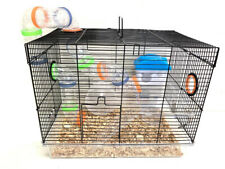 Black 2-Levels Hamster Habitat Rodent Gerbil Mouse Mice Rats Small Animal Cage