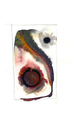Artist,Canada, abstract WATERCOLOR paintings INSPIRE #18, 5x8 in on paper