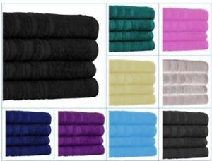 4x Big Jumbo Bath Sheets 100% Pure Cotton Large Size Bathroom Towels Soft Luxury