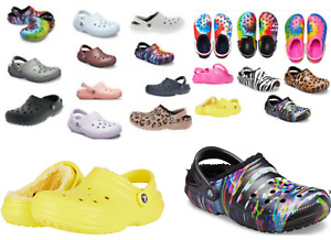 FUZZ Lined CROCS CLASSIC Clog Mens, Womens, Childrens sz 2-13  Slippers Shoe