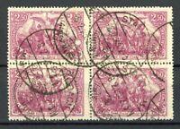 Deutsches Reich 4er Block MiNr. 115 a gestempelt Infla geprüft (H073
