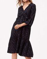 NWT Ann Taylor LOFT Rosebud Print Ruffle Flounce Midi Dress Size S