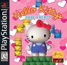 HELLO KITTY CUBE FRENZY PlayStation I PS1 Video Game SANRIO NewKidCo Rare Cute