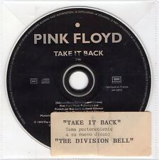 "PINK FLOYD ""TAKE IT BACK"" FRENCH LIMITED EDITION PROMO CD SINGLE WITH STICKER"