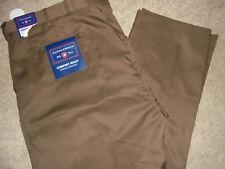 NWT SADDLEBRED COMFORT WAIST MOCHA BROWN TROUSER DRESS PANTS SIZE 48 X 34