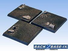 50mm Resin Scenic Bases (3) Square Dirt Warhammer