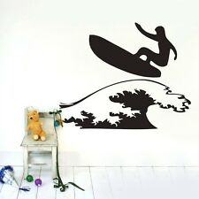 Surfer surfboard Wall sticker Vinyl Decals home kids nursery room Art mural DIY