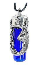 Cat and Stars Pewter & Cobalt Blue Bottle Urn Storage Keepsake fnt