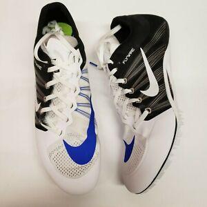 Nike Zoom Ja Fly 2 Unisex Track Spikes Men 12 Women 13.5 White Blue Black NIB