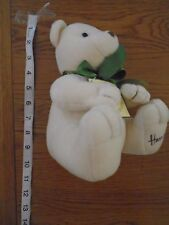 With tags but used, Harrods cream bear with green ribbon.    1/8
