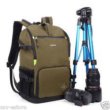 DSLR SLR Digital Camera Backpack Green Photography Bag Case Large Space Storing