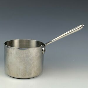 All Clad Polished Stainless Steel Cookware Oven Broiler Sauce Pot Saucepan RMG