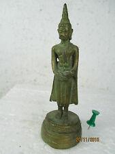Kleiner stehender Sonntag - Buddha, Bronze Miniatur, Thailand ca. 1970  10cm