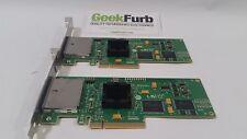 Lot of 2 LSI Logic 8 Port 3Gb/s PCI-E SAS/SATA Host Bus Adapter SAS3801E