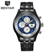 BENYAR Chronograph Fashion Mens Sport Watches Quartz Waterproof Miliatry Watch