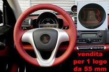 TUNING STICKER RESINATO PER VOLANTE 3D 3M SMART BRABUS ROSSO CARBONIO 55 mm