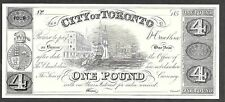 City of Toronto Banknote CBNC Proof Print 4 Dollars 1 Pound UNC Intaglio