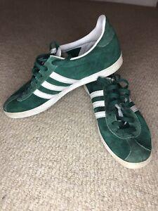 Adidas Gazelle Green Suede Trainers 6 39.5