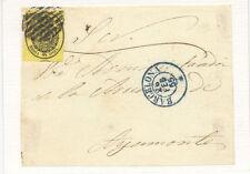 Frontal con sello. 1/2 onza del 26 de Febrero de 1855.