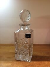 ROYAL DOULTON LEAD CRYSTAL CUT SQUARE WHISKY DECANTER
