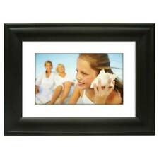 "Polaroid 7"" Digital Picture Frame **Wood Frame** BLACK"